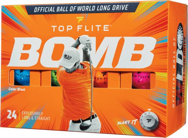 Top Flite 2020 BOMB Color Blast Golf Balls – 24 Pack product image
