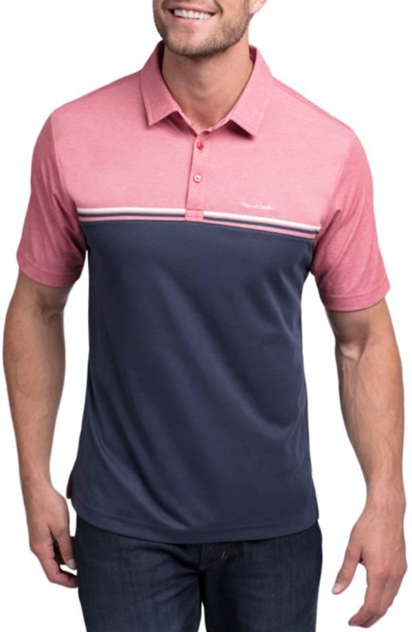 TravisMathew Men's Red Head Short Sleeve Golf Polo product image
