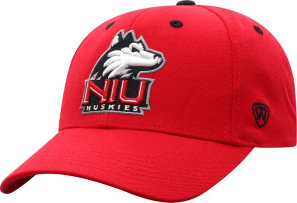 Top of the World Men's Northern Illinois Huskies Cardinal Triple Threat Adjustable Hat product image