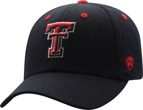 Top of the World Men's Texas Tech Red Raiders Triple Threat Adjustable Black Hat product image