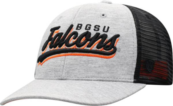 Top of the World Men's Bowling Green Falcons Grey/Black Cutter Adjustable Hat product image