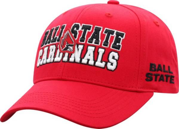 Top of the World Men's Ball State Cardinals Cardinal Teamwork Adjustable Hat product image