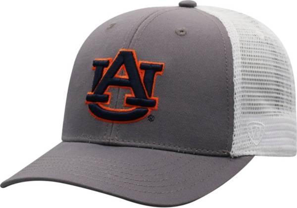 Top of the World Men's Auburn Tigers Grey/White BB Two-Tone Adjustable Hat product image