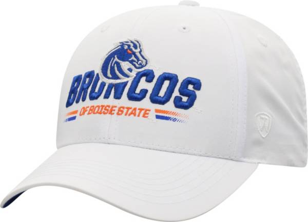 Top of the World Men's Boise State Broncos Centralize Aura Adjustable White Hat product image