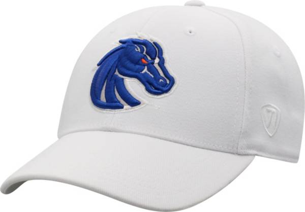 Top of the World Men's Boise State Broncos Premium 1Fit Flex White Hat product image