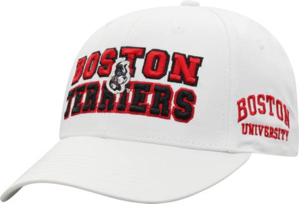 Top of the World Men's Boston Terriers Teamwork Adjustable White Hat product image