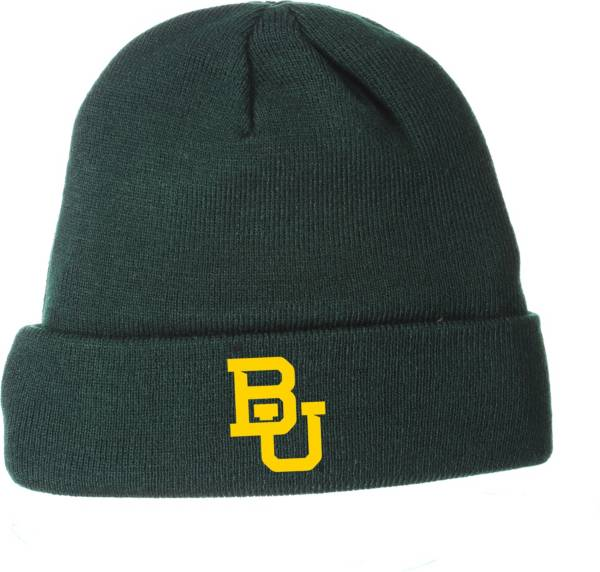 Zephyr Men's Baylor Bears Green Cuffed Knit Beanie product image