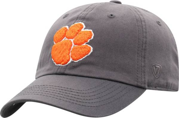 Top of the World Men's Clemson Tigers Grey Crew Washed Cotton Adjustable Hat product image