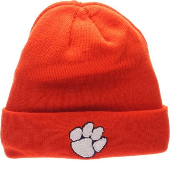 Zephyr Men's Clemson Tigers Orange Cuffed Knit Beanie product image