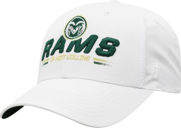 Top of the World Men's Colorado State Rams Centralize Aura Adjustable White Hat product image