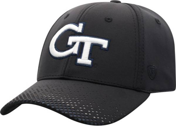 Top of the World Men's Georgia Tech Yellow Jackets Lumens 1Fit Flex Black Hat product image
