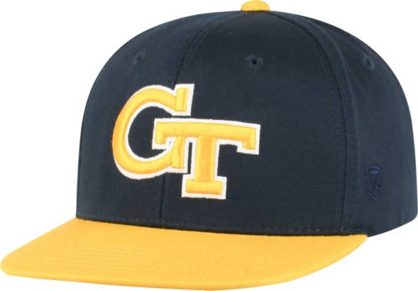 Top of the World Youth Georgia Tech Yellow Jackets Navy Maverick Adjustable Hat product image