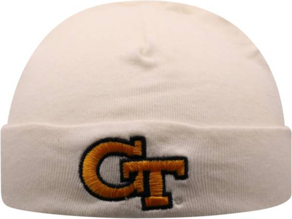Top of the World Infant Georgia Tech Yellow Jackets Lil Tyke Cuffed Knit White Beanie product image