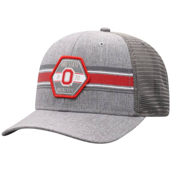 Top of the World Men's Ohio State Buckeyes Grey Willow Adjustable Hat product image