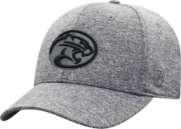 Top of the World Men's Houston Cougars Grey Steam 1Fit Flex Hat product image