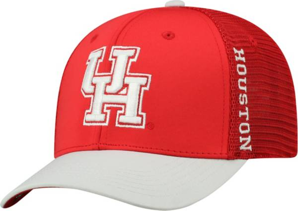 Top of the World Men's Houston Cougars Red Chatter 1Fit Fitted Hat product image