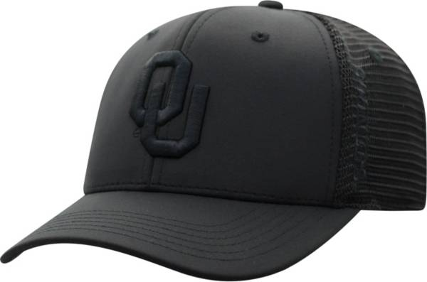 Top of the World Men's Oklahoma Sooners Chatter 1Fit Fitted Black Hat product image