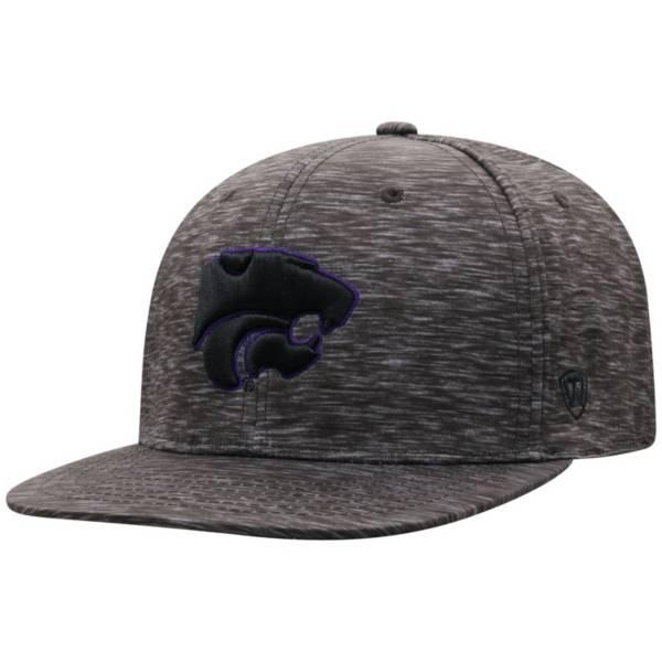 Top of the World Men's Kansas Jayhawks Gritty 1Fit Flex Black Hat product image