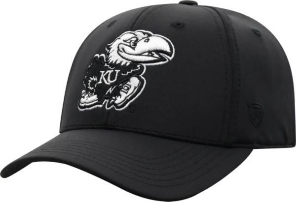 Top of the World Men's Kansas Jayhawks Phenom 10 1Fit Flex Black Hat product image