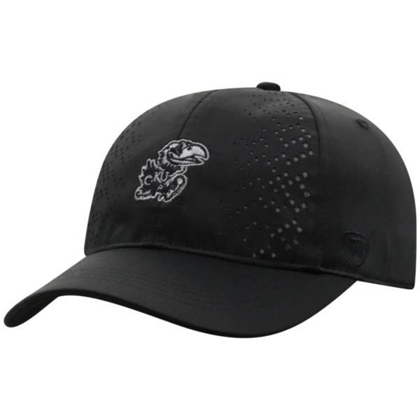 Top of the World Women's Kansas Jayhawks Focal 1Fit Flex Black Hat product image