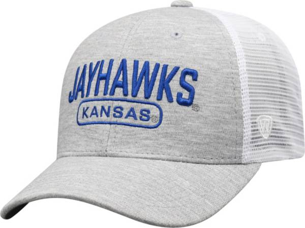 Top of the World Men's Kansas Jayhawks Grey Notch Adjustable Snapback Hat product image