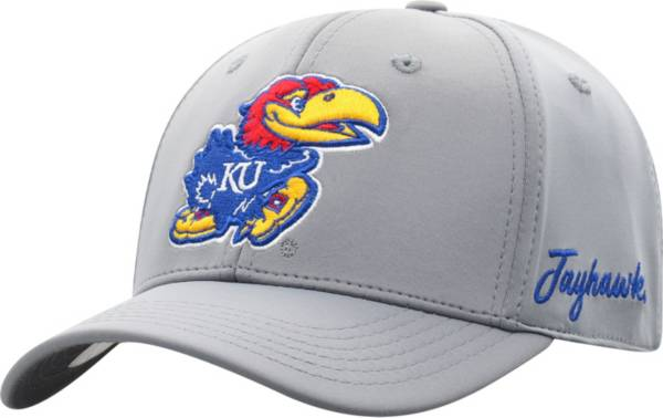 Top of the World Men's Kansas Jayhawks Grey Phenom 1Fit Flex Hat product image