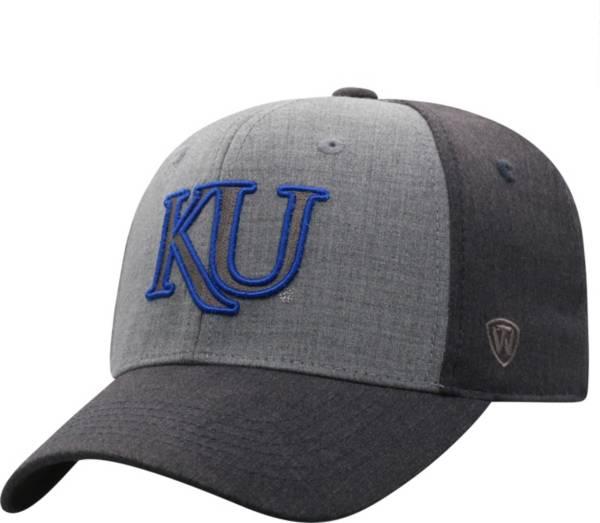 Top of the World Men's Kansas Jayhawks Grey Powertrip 1Fit Flex Hat product image