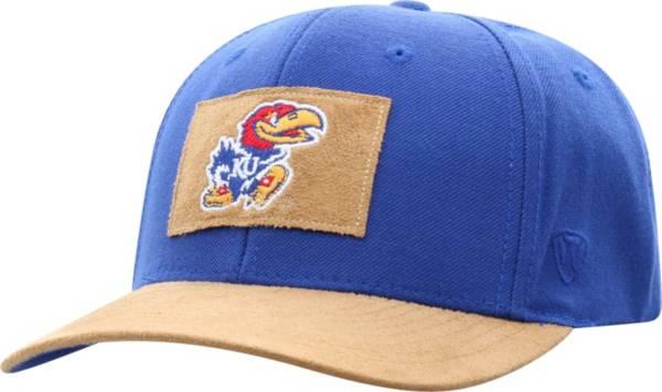 Top of the World Men's Kansas Jayhawks Blue Hide Adjustable Hat product image