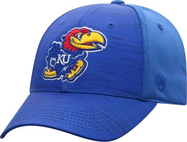 Top of the World Men's Kansas Jayhawks Blue Intrude 1Fit Flex Hat product image