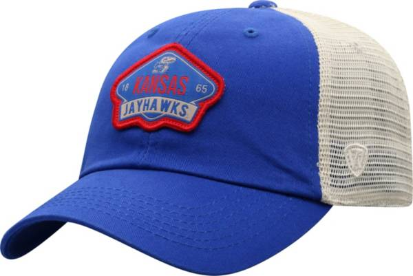 Top of the World Men's Kansas Jayhawks Blue/Khaki Nitty Adjustable Hat product image