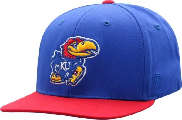 Top of the World Youth Kansas Jayhawks Blue Maverick Adjustable Hat product image