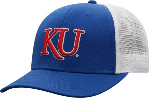 Top of the World Men's Kansas Jayhawks Blue/Grey BB Two-Tone Adjustable Hat product image