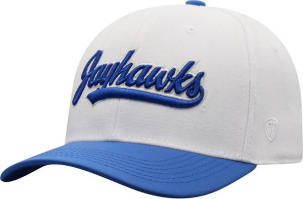 Top of the World Men's Kansas Jayhawks Infield 1Fit Flex White Hat product image