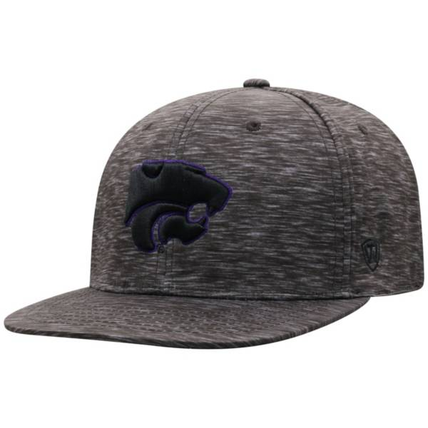 Top of the World Men's Kansas State Wildcats Gritty 1Fit Flex Black Hat product image
