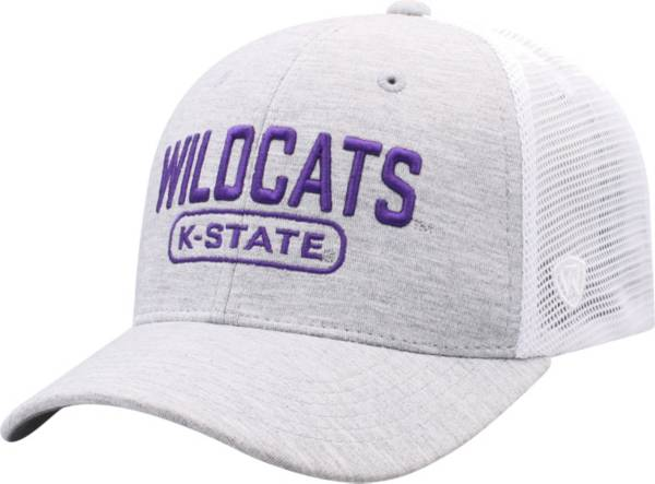 Top of the World Men's Kansas State Wildcats Grey Notch Adjustable Snapback Hat product image