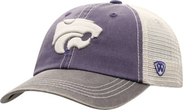 Top of the World Men's Kansas State Wildcats Purple/White Off Road Adjustable Hat product image