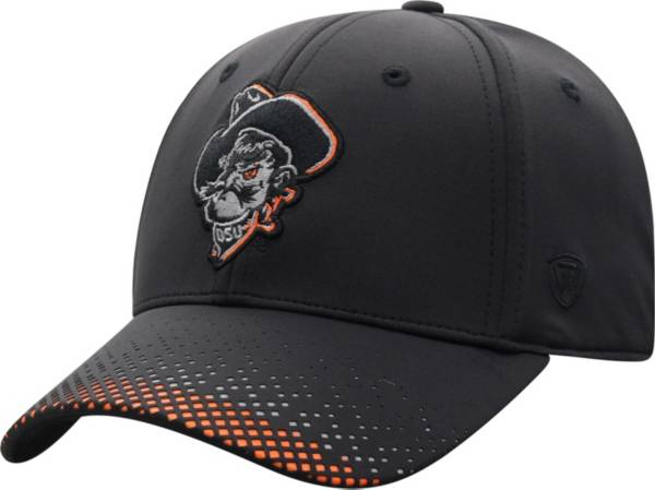 Top of the World Men's Oklahoma State Cowboys Lumens 1Fit Flex Black Hat product image