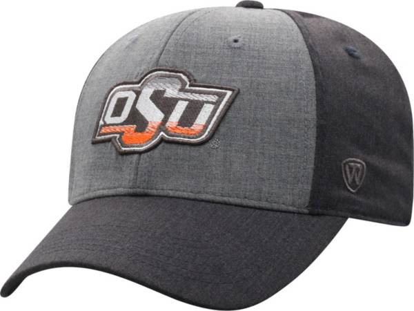 Top of the World Men's Oklahoma State Cowboys Grey Powertrip 1Fit Flex Hat product image