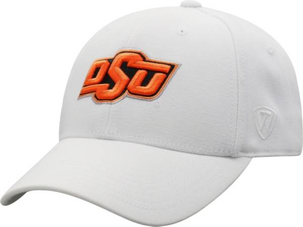 Top of the World Men's Oklahoma State Cowboys Premium 1Fit Flex White Hat product image
