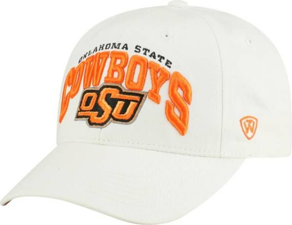 Top of the World Men's Oklahoma State Cowboys White Whiz Adjustable Hat product image