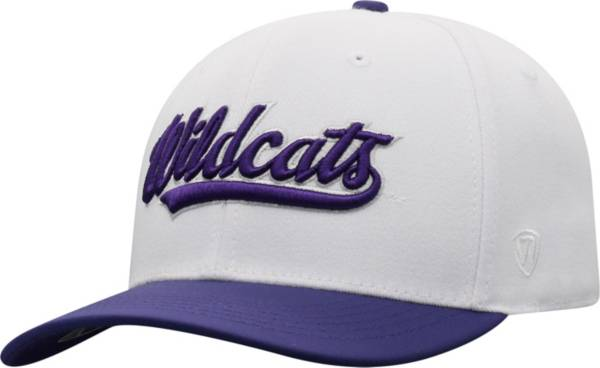 Top of the World Men's Kansas State Wildcats Infield 1Fit Flex White Hat product image