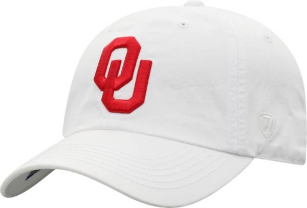 Top of the World Men's Oklahoma Sooners Crew Washed Cotton Adjustable White Hat product image
