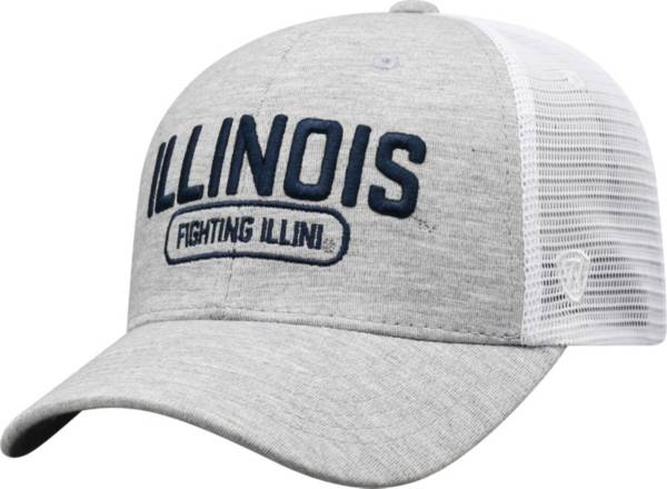 Top of the World Men's Illinois Fighting Illini Grey Notch Adjustable Snapback Hat product image