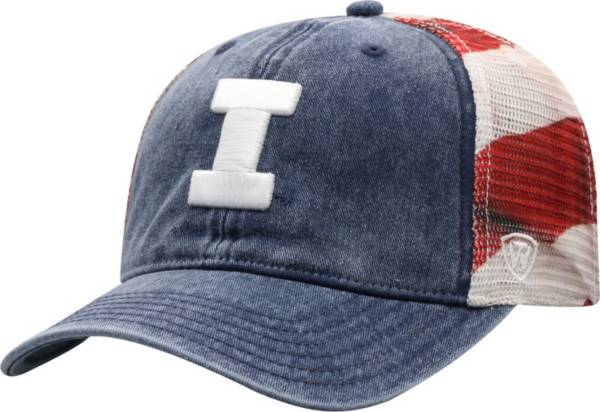 Top of the World Men's Illinois Fighting Illini Red/White/Blue July Adjustable Hat product image