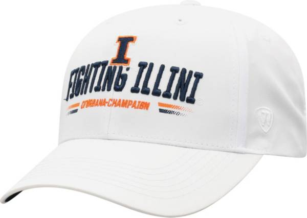 Top of the World Men's Illinois Fighting Illini Centralize Aura Adjustable White Hat product image