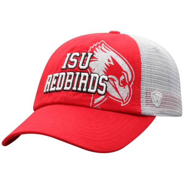 Top of the World Women's Illinois State Redbirds Red Glitter Cheer Adjustable Hat product image