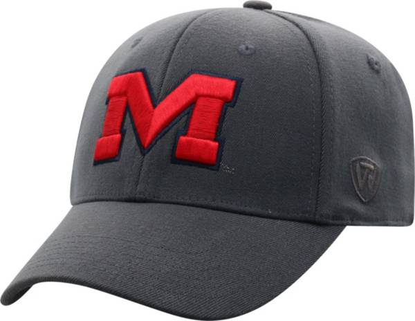 Top of the World Men's Ole Miss Rebels Grey Premium 1Fit Flex Hat product image