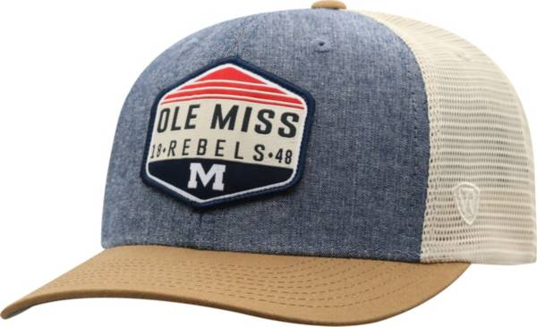 Top of the World Men's Ole Miss Rebels Grey Wild Adjustable Hat product image