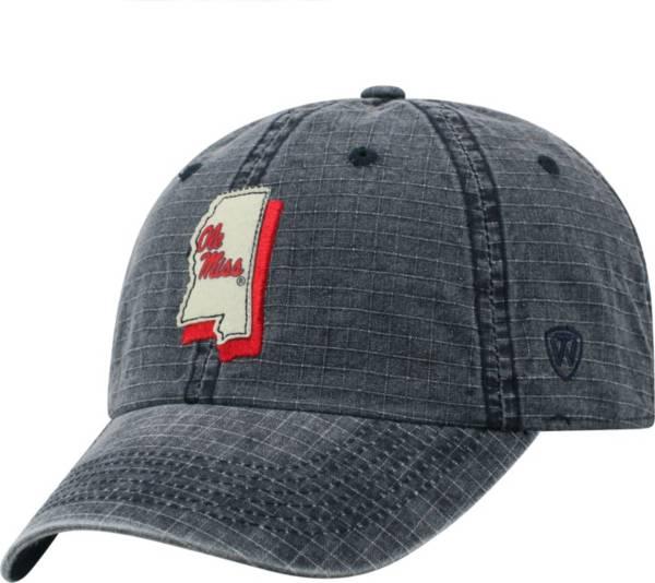 Top of the World Men's Ole Miss Rebels Blue Stateline Adjustable Hat product image