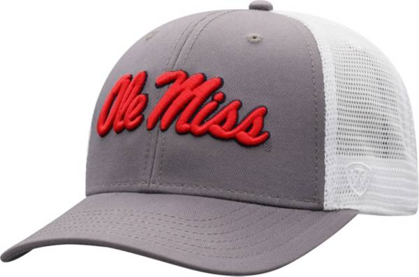 Top of the World Men's Ole Miss Rebels Grey/White BB Two-Tone Adjustable Hat product image